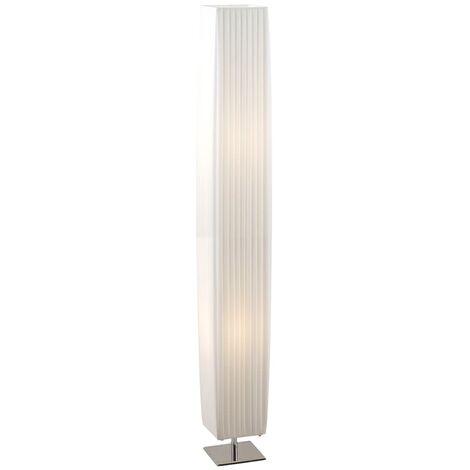 GLOBO Lámpara de suelo BAILEY cromada blanca 14x14x119 cm 24662 - Blanco