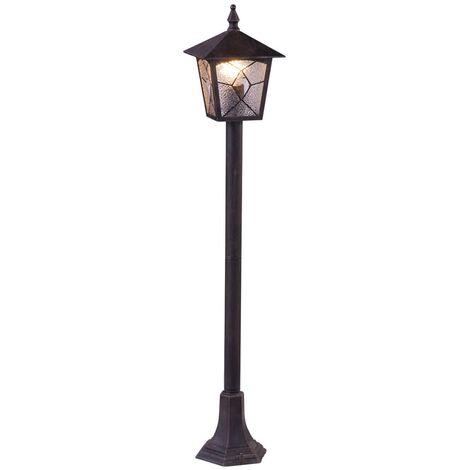 GLOBO Lámpara de suelo exterior ATLANTA aluminio negra 3128