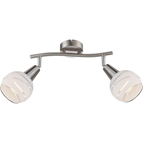 GLOBO Lámpara focal LED con 2 bombillas ELLIOTT níquel mate 54341-2