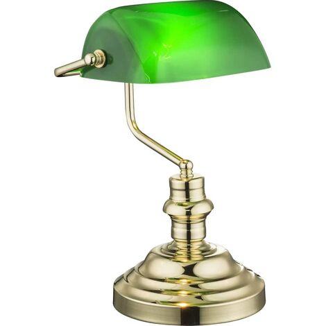 GLOBO Lampe de table ANTIQUE Laiton Vert 2491K