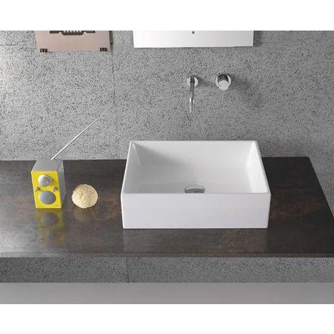 Globo Lavabo à poser 50x37 cm en céramique Forty3 | Blanc brillant