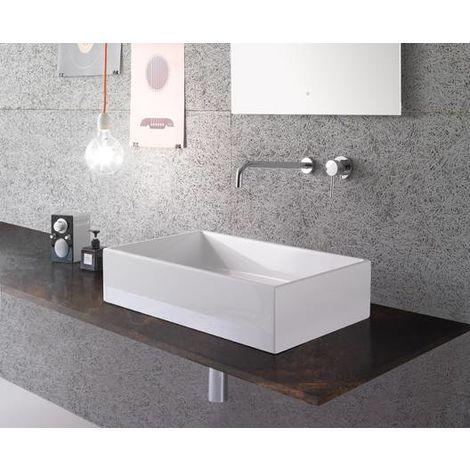 Globo Lavabo à poser 60x37 cm en céramique Forty3 | Blanc brillant