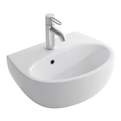 Globo lavabo suspendido 50x40 cm de Vitreous China Grace GL-GR050.BI | Blanco brillo