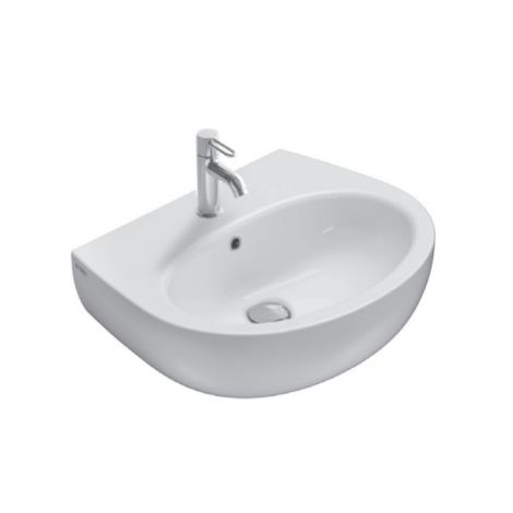 Globo lavabo suspendido 60x48 cm de Vitreous China Grace GL-GR060.BI | Blanco brillo