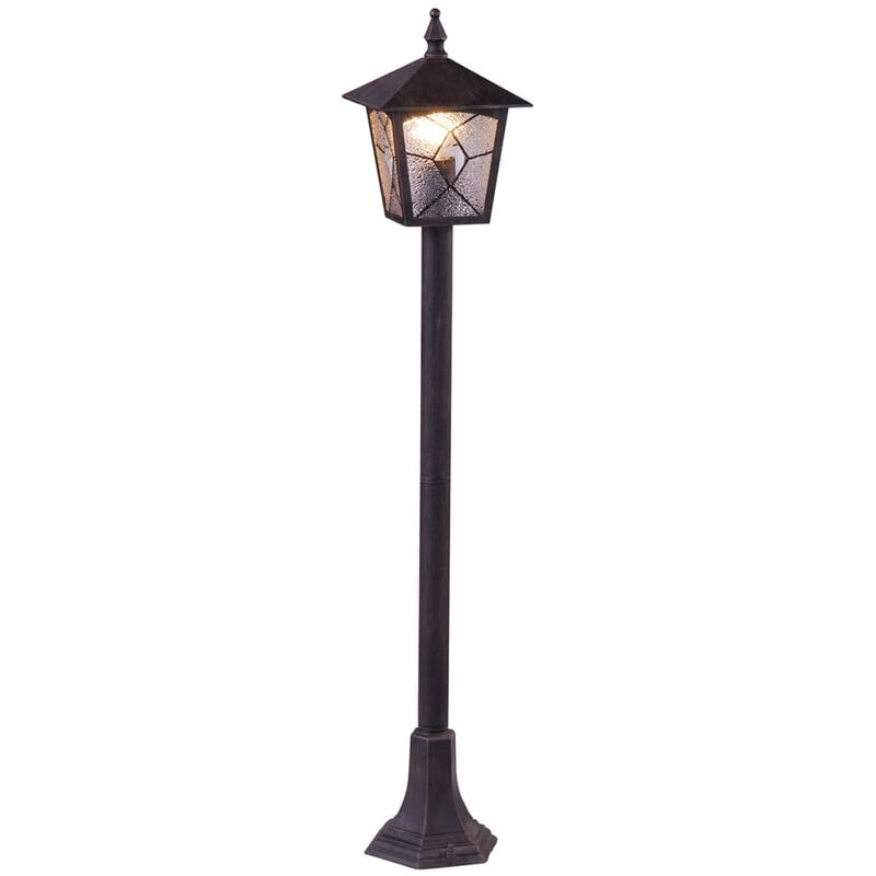 Image of Outdoor Floor Lamp ATLANTA Aluminium Black 3128 - Black - Globo