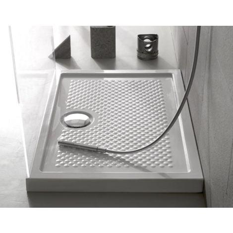 Globo Receveur de douche 100x70 cm rectangulaire épaisseur 6,5 cm | Blanc