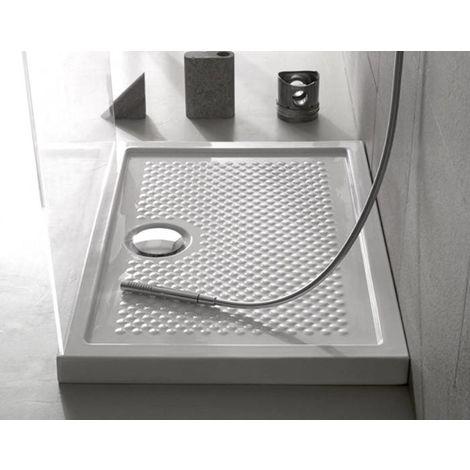 Globo Receveur de douche 90x90 cm carré épaisseur 6,5 cm | Blanc