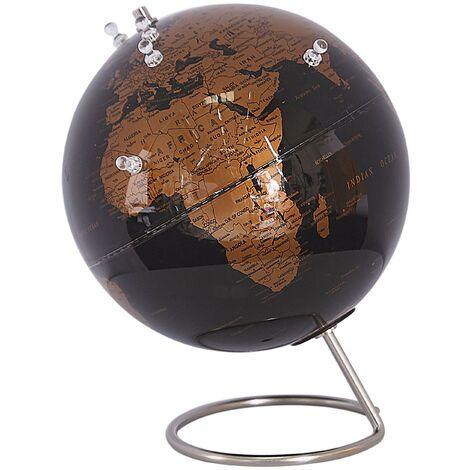 Globo terráqueo negro/cobre con imanes 29 cm CARTIER