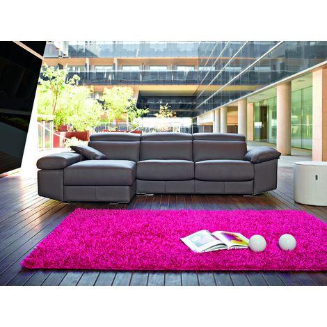 Gloria Italian Reclining Leather Corner Group Sofa