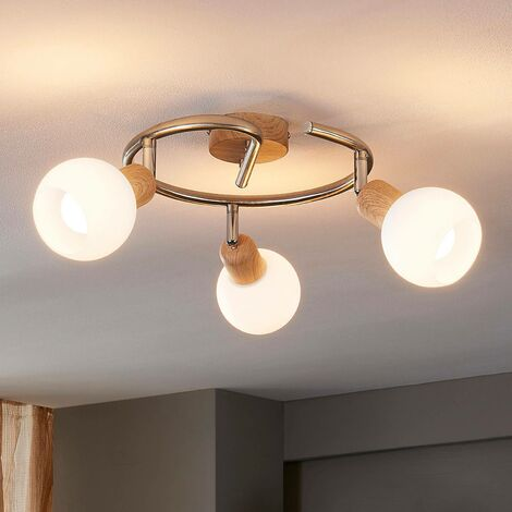 Glorieta de techo Svenka con efecto madera LED E14