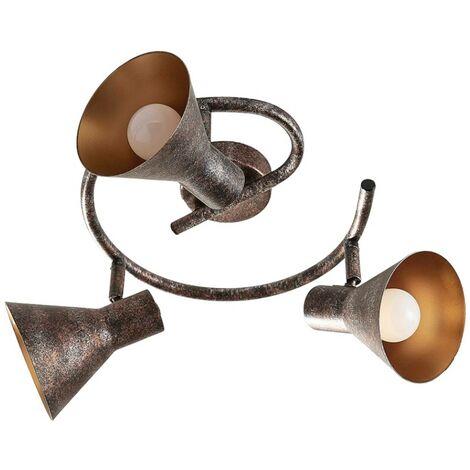 Glorieta LED de techo Zera atenuable rojizo-dorado