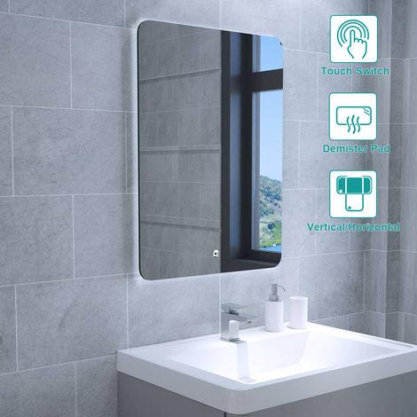 Glow 600 x 800mm Bathroom Illuminated LED Mirror with Demister Pad(Type G)