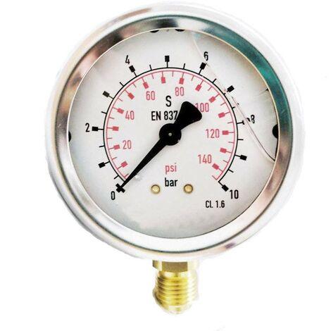 Glycérine manomètre 0-10 bar 1/4 » ...