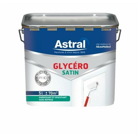 Glycéro satin Qualité Pro blanc base white 5L