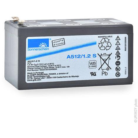 GNB Sonnenschein A500 - Batería plomo sellada gel A512/1.2S 12V 1.2Ah F4.8