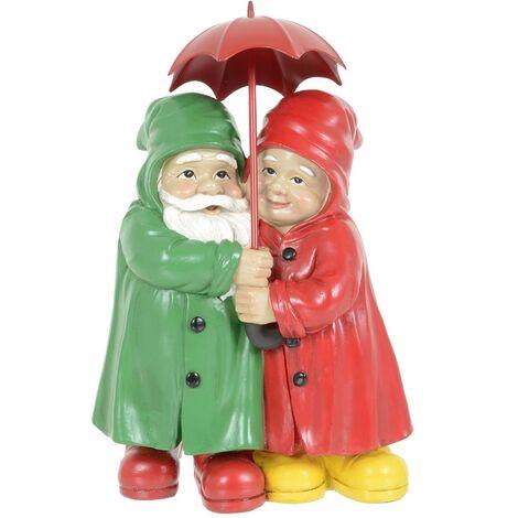 Gnome Couple Under Umbrella