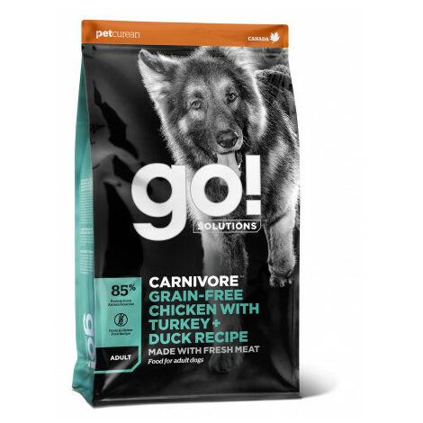 Go! Carnivore Grain Free Chicken, Turkey + Duck Adult Dog Pienso para Perros - 1,6 Kg