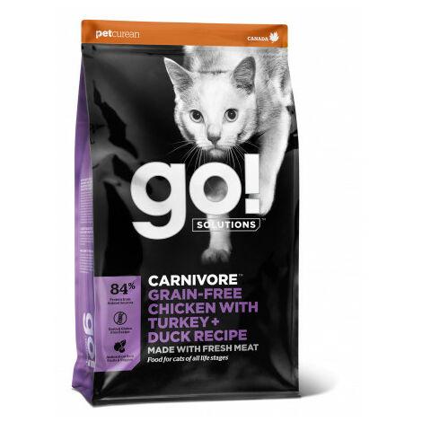 Go! Carnivore Grain Free Chicken, Turkey + Duck Cat Pienso para Gatos - 1,4 Kg