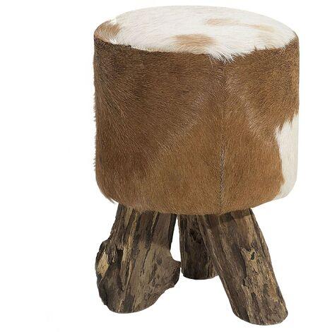 Goatskin Leather Footstool KENT