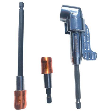 "main image of ""GOBEST bit holders set 60 & 150mm & angle bit driver 140mm magnetic angled 105°"""