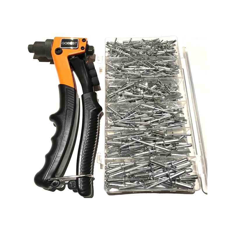 Image of compact hand riveter, 2.4-4.8 range and 400 rivets set - Gobest
