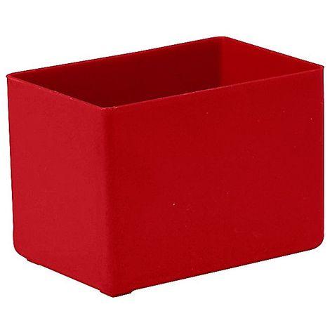 Godet de compartimentation pour tiroir - L x l x h 80 x 53 x 54 mm, lot de 32 - rouge