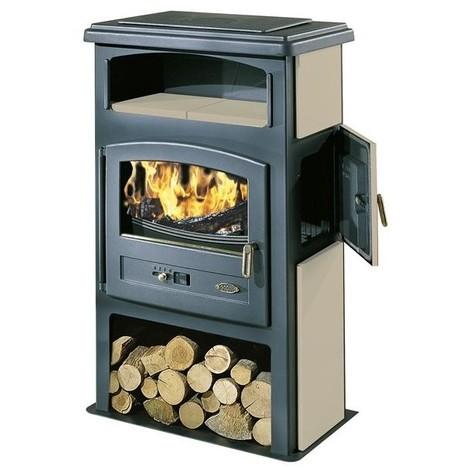godin poele a bois eco 11 kw flamme verte 7 etoiles sable. Black Bedroom Furniture Sets. Home Design Ideas