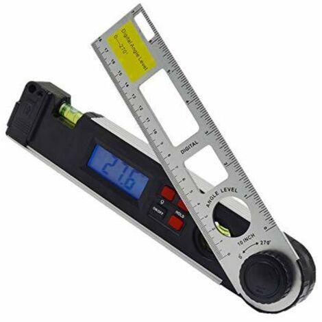 Goeco Mesureur d'angle 0-270 °, Niveau laser avec affichage numérique, niveau avec rétroéclairage LED, Rapporteur numérique