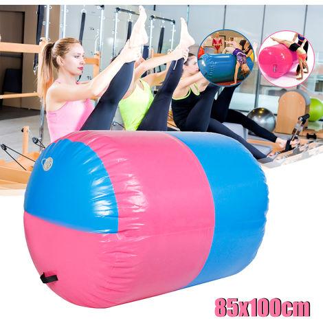 Gofun Custom Made Inflatable Pvc Cylinder Tumbling Track Yoga Gymnastics Gymnastics Exercise Air Mat Barrel Track Roller Training Mat (Size: 100X85 Cm)