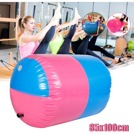 Gofun Custom Made Inflatable Pvc Cylinder Tumbling Track Yoga Gymnastics Gymnastics Exercise Air Mat Barrel Track Roller Training Mat (Size: 100X85 Cm) Hasaki