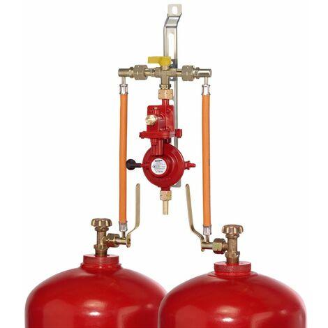 GOK 2-Flaschenanlage / manuell / 50 mbar / 4 kg/h / mit Umschaltventil PS 16 bar