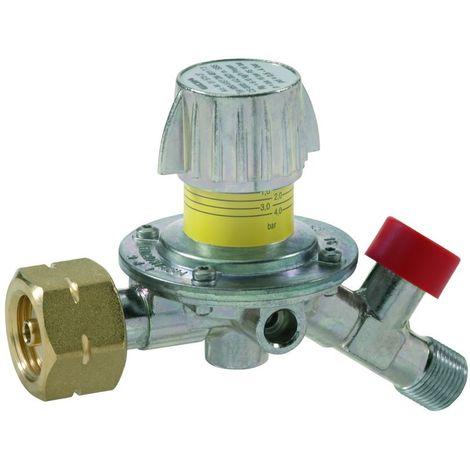 GOK Mitteldruckregler mit Abgang 35° und Druckeinstellskala