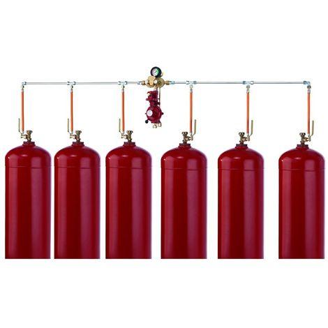 GOK Sechsflaschenanlage 50 mbar 12 kg