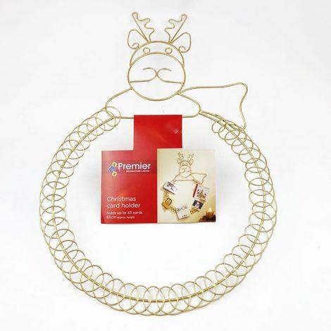 Gold Christmas Card Holder