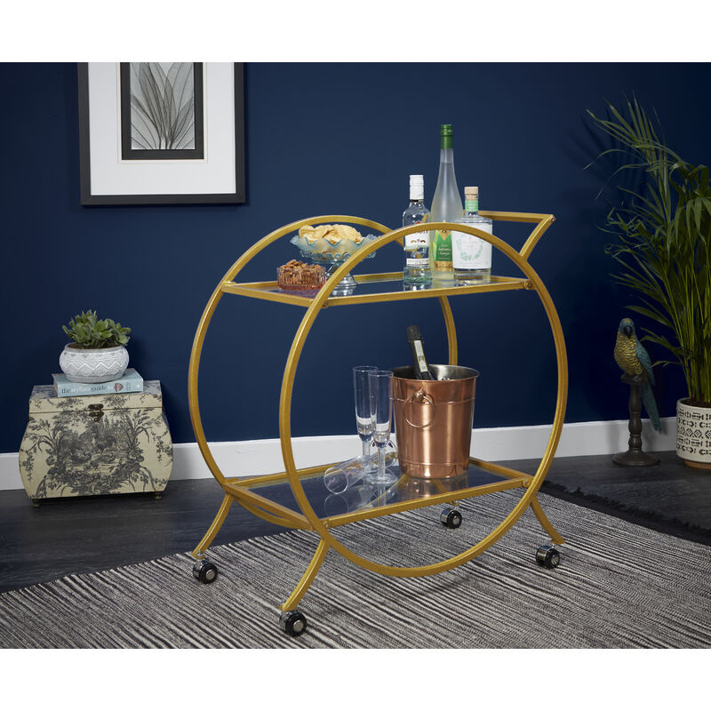 Image of Gold Drinks Trolley