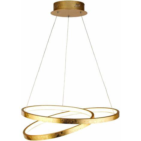 Gold leaf pendant float led