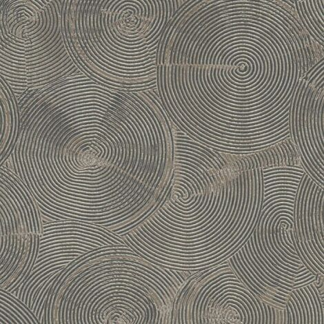 Gold Or Silver Circle Wallpaper Metropolitan Stories Textured Vinyl