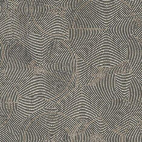 Gold Or Silver Circle Wallpaper Metropolitan Stories Textured Vinyl