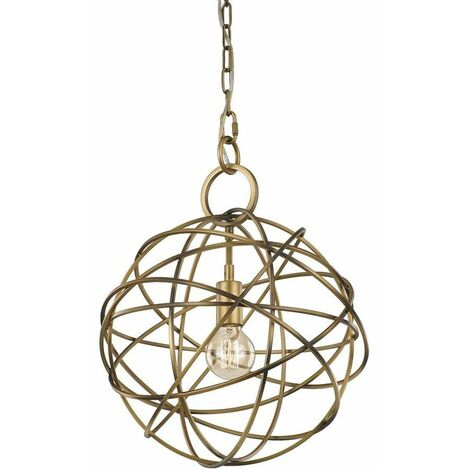 Gold pendant light Orbit 1 bulb