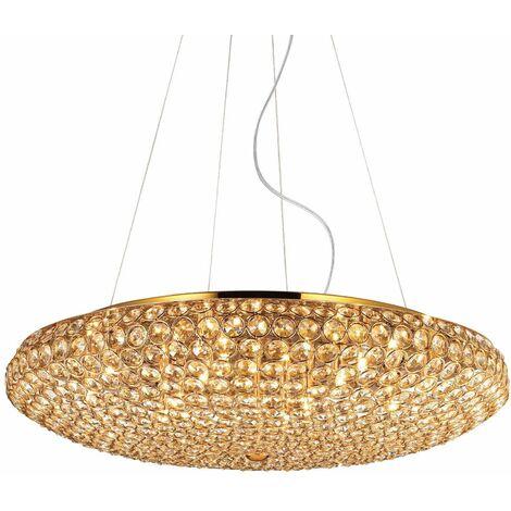 Golden KING crystal pendant light 12 bulbs
