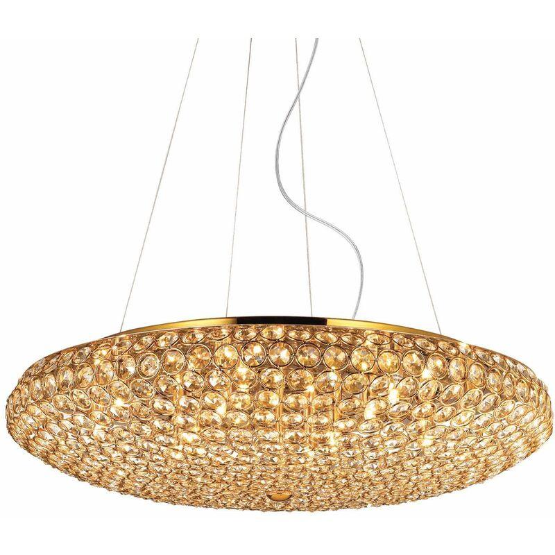 Golden KING Kristall Pendelleuchte 12 Glühbirnen
