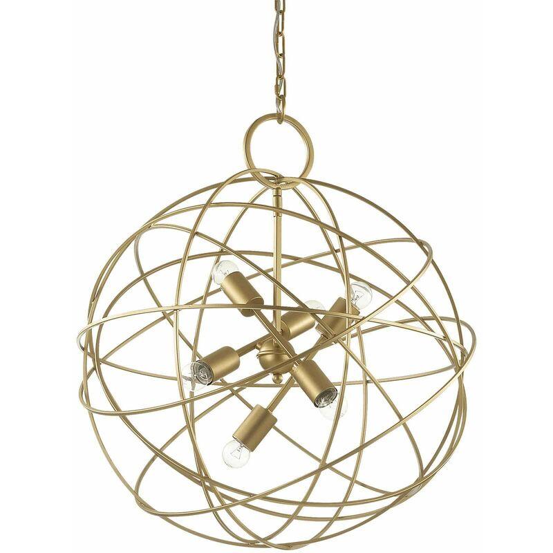 Goldene KONSE Pendelleuchte 6 Glühbirnen