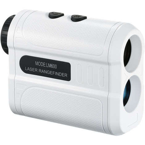 Golf laser rangefinder white shipped without battery