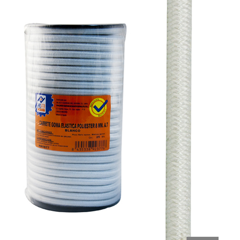 Goma Elastica Carret.4mm Blanc - NEOFERR - PH0673 - 200 M