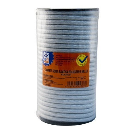 Goma Elastica Carrete 8mm Blanco - NEOFERR - PH0677 - 25 M