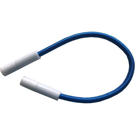 Gomas tensoras regulables para cobertor de piscina. Kit 10 Ud Azules