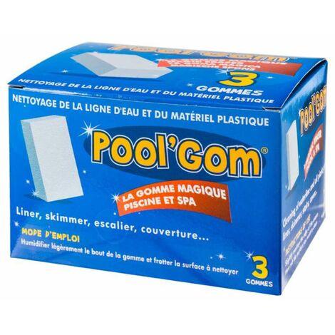 Gomme nettoyante Pool Gom les 3 pièces - Blanc
