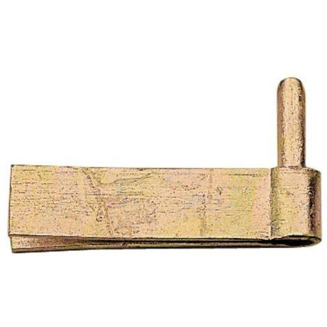 Gond à sceller 100 mm pour pentures à col droit acier zingué - à lame double axe Ø 14 mm