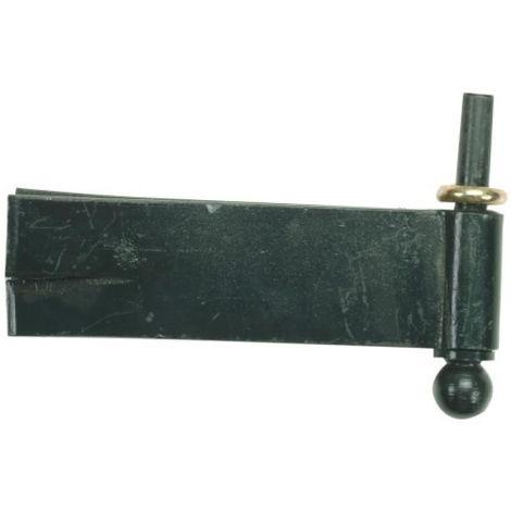 Gond à sceller pour pentures équerres à boule acier phorétique noir axe Ø 14 mm