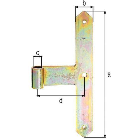 Gond droit avec bout pointu 3321/K2/300 mm